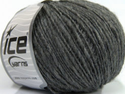 Lot of 8 Skeins Ice Yarns FLAMME WOOL LIGHT (40% Wool) Hand Knitting Yarn Grey