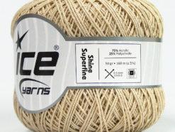 Lot of 6 Skeins Ice Yarns SHINE SUPERFINE Hand Knitting Yarn Beige