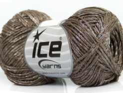 Lot of 8 Skeins Ice Yarns CHAIN SHINE FINE Hand Knitting Yarn Brown