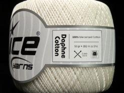 Lot of 6 Skeins Ice Yarns DAPHNE COTTON (100% Mercerized Cotton) Yarn White