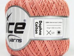 Lot of 6 Skeins Ice Yarns DAPHNE COTTON (100% Mercerized Cotton) Yarn Rose Pink