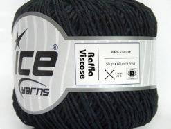 Lot of 6 Skeins Ice Yarns RAFFIA VISCOSE (100% Viscose) Yarn Dark Navy