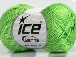 Lot of 6 Skeins Ice Yarns ALMINA COTTON (100% Mercerized Cotton) Yarn Green