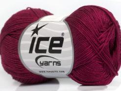 Lot of 6 Skeins Ice Yarns ALMINA COTTON (100% Mercerized Cotton) Yarn Burgundy