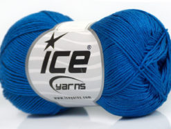 Lot of 6 Skeins Ice Yarns ALMINA COTTON (100% Mercerized Cotton) Yarn Blue