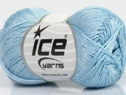 Lot of 6 Skeins Ice Yarns ALMINA COTTON (100% Mercerized Cotton) Yarn Light Blue