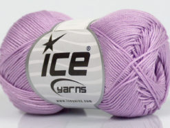 Lot of 6 Skeins Ice Yarns ALMINA COTTON (100% Mercerized Cotton) Yarn Lilac