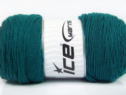 Lot of 2 x 200gr Skeins Ice Yarns SAVER Hand Knitting Yarn Emerald Green