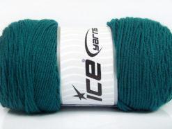 Lot of 2 x 200gr Skeins Ice Yarns SAVER Hand Knitting Yarn Emerald Green