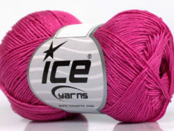 Lot of 6 Skeins Ice Yarns ALMINA COTTON (100% Mercerized Cotton) Yarn Candy Pink