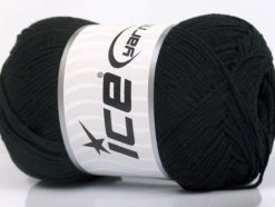 Lot of 4 x 100gr Skeins Ice Yarns NATURAL COTTON AIR (100% Cotton) Yarn Black