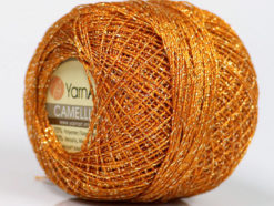 Lot of 10 Skeins YarnArt CAMELLIA (30% Metallic) Hand Knitting Yarn Gold