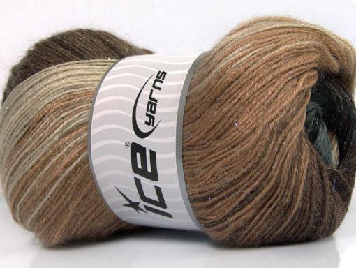 Lot of 4 x 100gr Skeins Ice Yarns MOHAIR MAGIC GLITZ (20% Mohair 20% Wool) Yarn Brown Shades Grey Shades