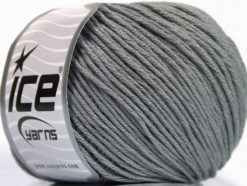 Lot of 4 x 100gr Skeins Ice Yarns COTTON BAMBOO LIGHT (60% Bamboo 40% Cotton) Yarn Grey