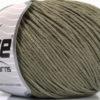 Lot of 4 x 100gr Skeins Ice Yarns COTTON BAMBOO LIGHT (60% Bamboo 40% Cotton) Yarn Khaki