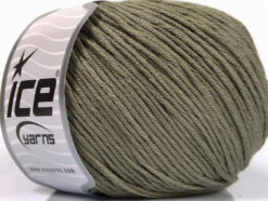 Lot of 4 x 100gr Skeins Ice Yarns COTTON BAMBOO LIGHT (60% Bamboo 40% Cotton) Yarn Khaki
