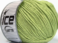 Lot of 4 x 100gr Skeins Ice Yarns COTTON BAMBOO LIGHT (60% Bamboo 40% Cotton) Yarn Light Green