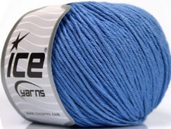 Lot of 4 x 100gr Skeins Ice Yarns COTTON BAMBOO LIGHT (60% Bamboo 40% Cotton) Yarn Indigo Blue