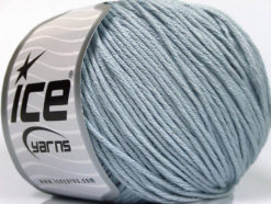 Lot of 4 x 100gr Skeins Ice Yarns COTTON BAMBOO LIGHT (60% Bamboo 40% Cotton) Yarn Light Blue