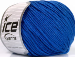 Lot of 4 x 100gr Skeins Ice Yarns COTTON BAMBOO LIGHT (60% Bamboo 40% Cotton) Yarn Dark Blue