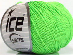 Lot of 4 Skeins Ice Yarns AMIGURUMI COTTON (60% Cotton) Yarn Light Green