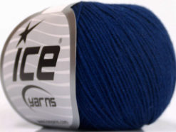 Lot of 4 Skeins Ice Yarns AMIGURUMI COTTON (60% Cotton) Hand Knitting Yarn Navy