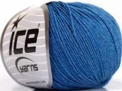 Lot of 4 Skeins Ice Yarns AMIGURUMI COTTON (60% Cotton) Yarn Jeans Blue