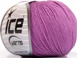Lot of 4 Skeins Ice Yarns AMIGURUMI COTTON (60% Cotton) Yarn Lavender