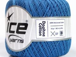 Lot of 6 Skeins Ice Yarns DAPHNE COTTON (100% Mercerized Cotton) Yarn Blue