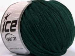 Lot of 8 Skeins Ice Yarns RIBBON WOOL (50% Wool) Hand Knitting Yarn Dark Green