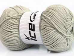 Lot of 4 x 100gr Skeins Ice Yarns LORENA WORSTED (55% Cotton) Yarn Light Grey