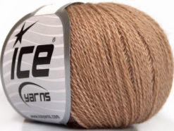 Lot of 6 Skeins Ice Yarns SILK MERINO (35% Silk 65% Merino Wool) Yarn Beige