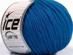 Lot of 8 Skeins Ice Yarns RIBBON WOOL (50% Wool) Hand Knitting Yarn Blue