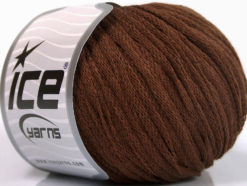 Lot of 8 Skeins Ice Yarns RIBBON WOOL (50% Wool) Hand Knitting Yarn Brown