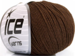 Lot of 4 Skeins Ice Yarns AMIGURUMI COTTON (60% Cotton) Yarn Dark Brown