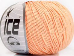 Lot of 4 Skeins Ice Yarns AMIGURUMI COTTON (60% Cotton) Yarn Light Salmon