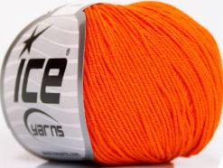 Lot of 4 Skeins Ice Yarns AMIGURUMI COTTON (60% Cotton) Yarn Orange