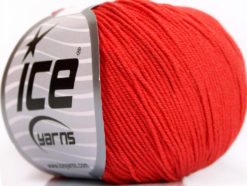 Lot of 4 Skeins Ice Yarns AMIGURUMI COTTON (60% Cotton) Yarn Tomato Red
