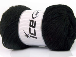 Lot of 4 x 100gr Skeins Ice Yarns NORSK (45% Alpaca 25% Wool) Yarn Black