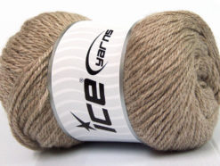 Lot of 4 x 100gr Skeins Ice Yarns NORSK (45% Alpaca 25% Wool) Yarn Camel