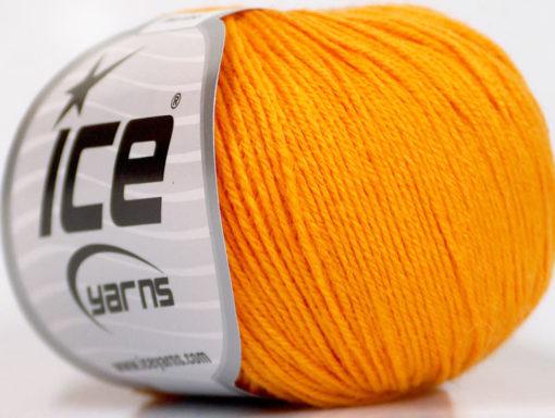 Lot of 6 Skeins Ice Yarns BABY MERINO (40% Merino Wool) Hand Knitting Yarn Gold