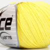 Lot of 6 Skeins Ice Yarns BABY MERINO (40% Merino Wool) Yarn Light Yellow