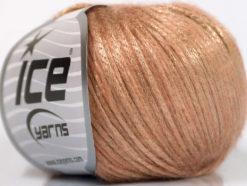 Lot of 8 Skeins Ice Yarns ROCK STAR (19% Merino Wool) Yarn Pink Beige