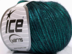 Lot of 8 Skeins Ice Yarns ROCK STAR (19% Merino Wool) Yarn Emerald Green Black