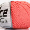 Lot of 8 Skeins Ice Yarns BABY SUMMER (60% Cotton) Hand Knitting Yarn Salmon