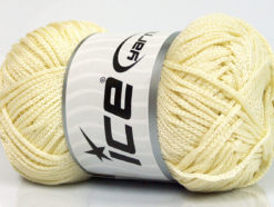 Lot of 4 x 100gr Skeins Ice Yarns MACRAME CORD Hand Knitting Yarn Cream