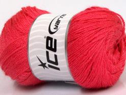 Lot of 4 x 100gr Skeins Ice Yarns NORSK FINE (45% Alpaca 25% Wool) Yarn Salmon