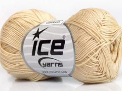 Lot of 6 Skeins Ice Yarns ALMINA COTTON (100% Mercerized Cotton) Yarn Cream