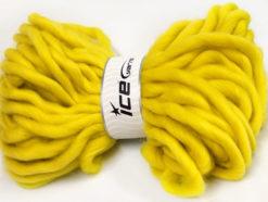 Lot of 2 x 200gr Skeins Ice Yarns JUMBO SUPERWASH WOOL (100% Superwash Wool) Yarn Yellow