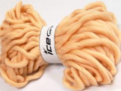Lot of 2 x 200gr Skeins Ice Yarns JUMBO SUPERWASH WOOL (100% Superwash Wool) Yarn Light Salmon